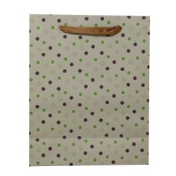 Paper Bags for Return Gifts Weddings and Birthdays Circle Design (Pack of 12) - Brown
