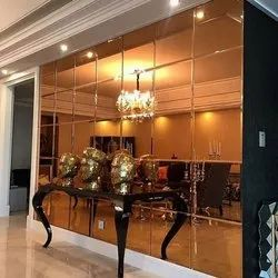 Toughened Glass Plain Wall Panel Copper Mirror, For Home, Thickness: 10-30 Mm