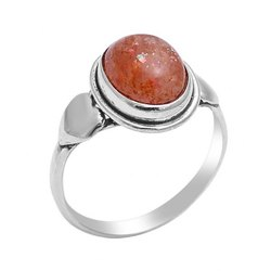 Sunstone Ring Women snd Men Silver Gemstone