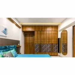 Brown Laminated Plywood Designer Wooden Bedroom Wardrobe, Size/Dimension: 10x12 Feet, Features: Moisture Proof