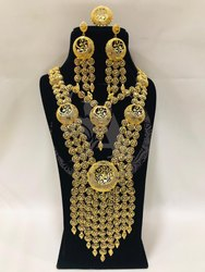 Gold Plated Long Necklace set