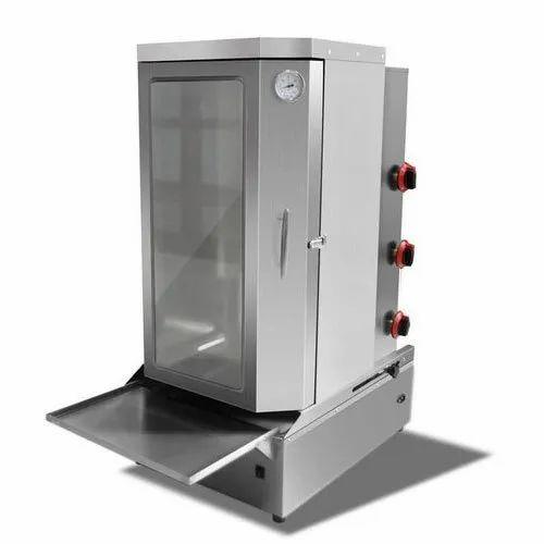 SS Shawarma Machine with Cabinet