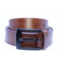 Pattern Brown Leather Belt