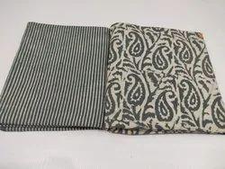 Girraj Printers Cotton Stripes Ladies Dress Material