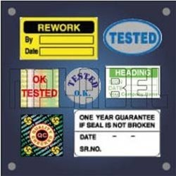 Quality Control Label and Sticker, Packaging Type: Packet