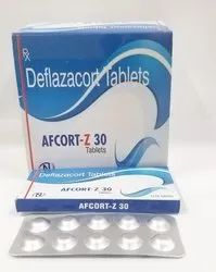 AFCORT-30 MG Deflazacort 30mg TABLET, 30 Mg Tablet, Packaging Size: 1*10*10