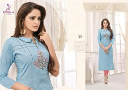 Ladies Cotton Embroidered Fancy Kurti