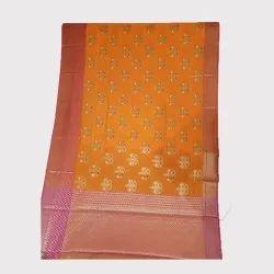 Yellow Meenakari Chanderi Silk Saree
