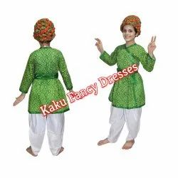 Rajasthani Boy Green Dress