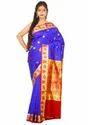 Banarasi Handloom Silk Saree ( PM2405, Royal Blue )