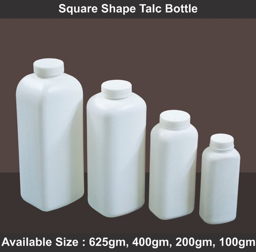 Square Shape Talc Bottle