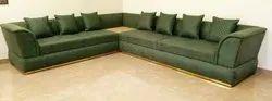 L Shape Green Color Sofa