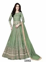 Green Color Indian Embroidery Suit