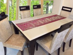 Home Center Table Cheap Gold Jacquard Table Runners