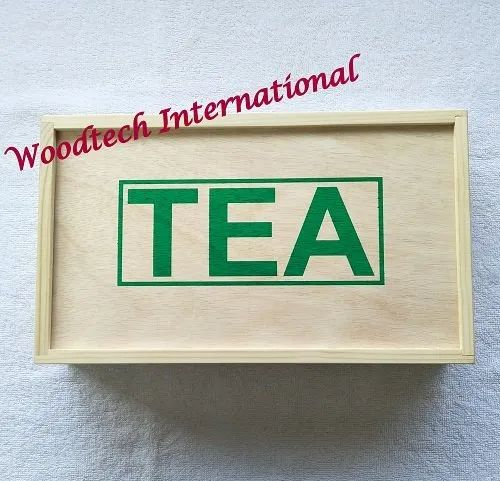 Wooden Tea Box With 6 Compartments