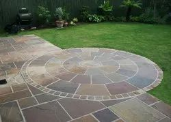 Atom Brown Sandstone Circle