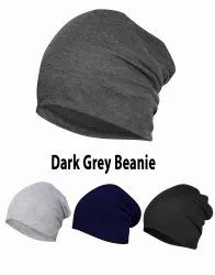 Chemo Dark Grey Beanie Cotton Cap