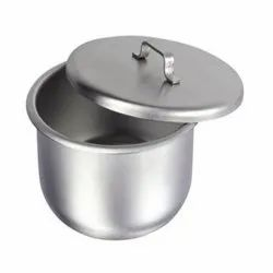 Stainless Steel Gallipots Cup Shapped With Cover