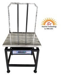 Sunrise Stainless Steel Platform Scale 600x600 With 20 Inch Godi, for Weighing, Capacity: 100/200 Kg