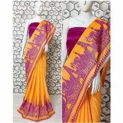 Printed Cotton Designer Saree