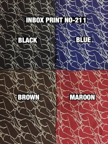 Gentlement Inbox Print Fabric