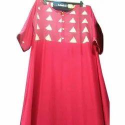3/4th Sleeve Ladies Stylish Rayon Kurti, Size: M-5XL, Wash Care: Machine wash