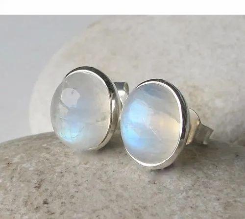 Moonstone Stud Earring- Stud Earrings