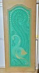Exterior Finished HDHMR Carved Door for Home
