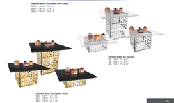 Imperial Buffet Set (Square Rose Gold)