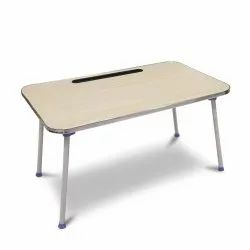 Multi-Purpose Mini Wooden Foldable Laptop, Study Table Rounded Edges.K540-Beige