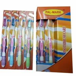 Medium Plastic Palmark Adult Toothbrush, For Cleaning Teeth