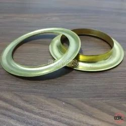 66mm Brass Curtain Eyelets & Washers Golden