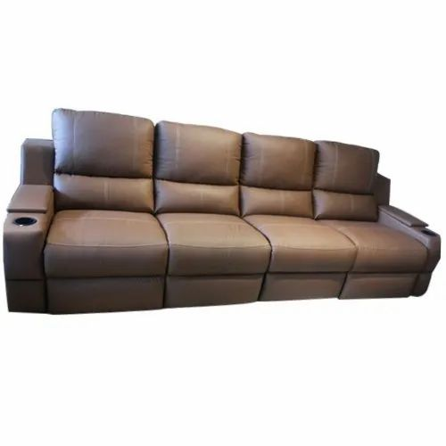 4 Seater Motorized Recliner Leather Sofa