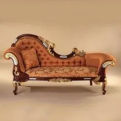 B-Brown Arts Antique Brown Sofa Couch