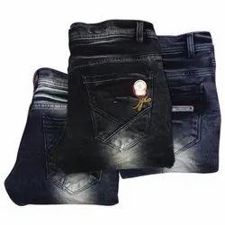 Black Shadow Comfort Fit Mens Faded Denim Jeans