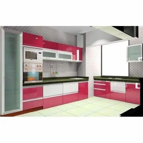 pvc modular kitchen at rs 750square feet  पीवीसी