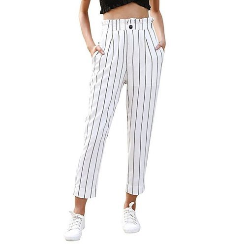 Ladies Striped Cotton Pant