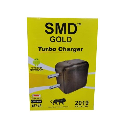Black Turbo Mobile Charger, Packaging Type: Box