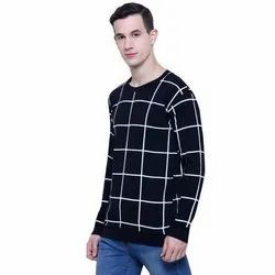 Cotton Mens Round Neck Full Sleeves T-Shirt, Size: S-XXL