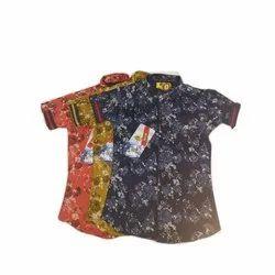 Designer Printed Kids Party Wear Shirt