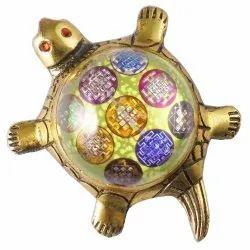Eshoppee Shri Shree Navgrah Yantra On Metal Tortoise