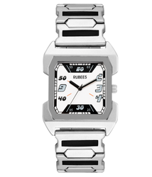 Rubees Analog Silver Color Watch