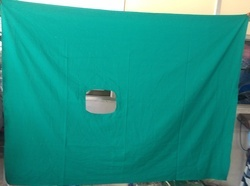 Green Surgical Hole Towels