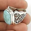 Soigne Rainbow Moonstone Gemstone Silver Ring