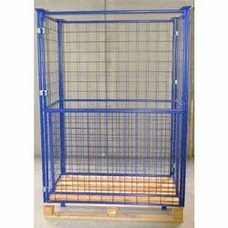 Blue Mild Steel Cage