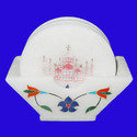 Marble Coaster With Taj Mahal  Inlay