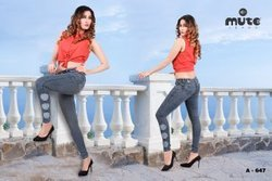 Mute Skinny Ladies Denim Ankle Jeans, Waist Size: Available Sizes In 28 To 40