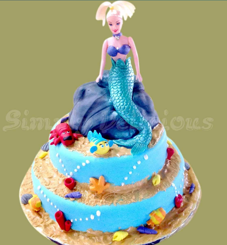 Two Tier Mermaid Cake
