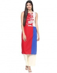 Cotton Multicolor Abstract Print Kurta
