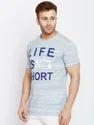 100% Cotton Men Short Sleeve Printed Round Neck T-Shirt